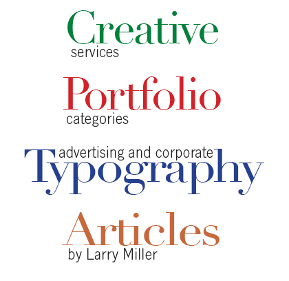 Creative Portfolio Typography head