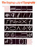 cryptography of typography poster